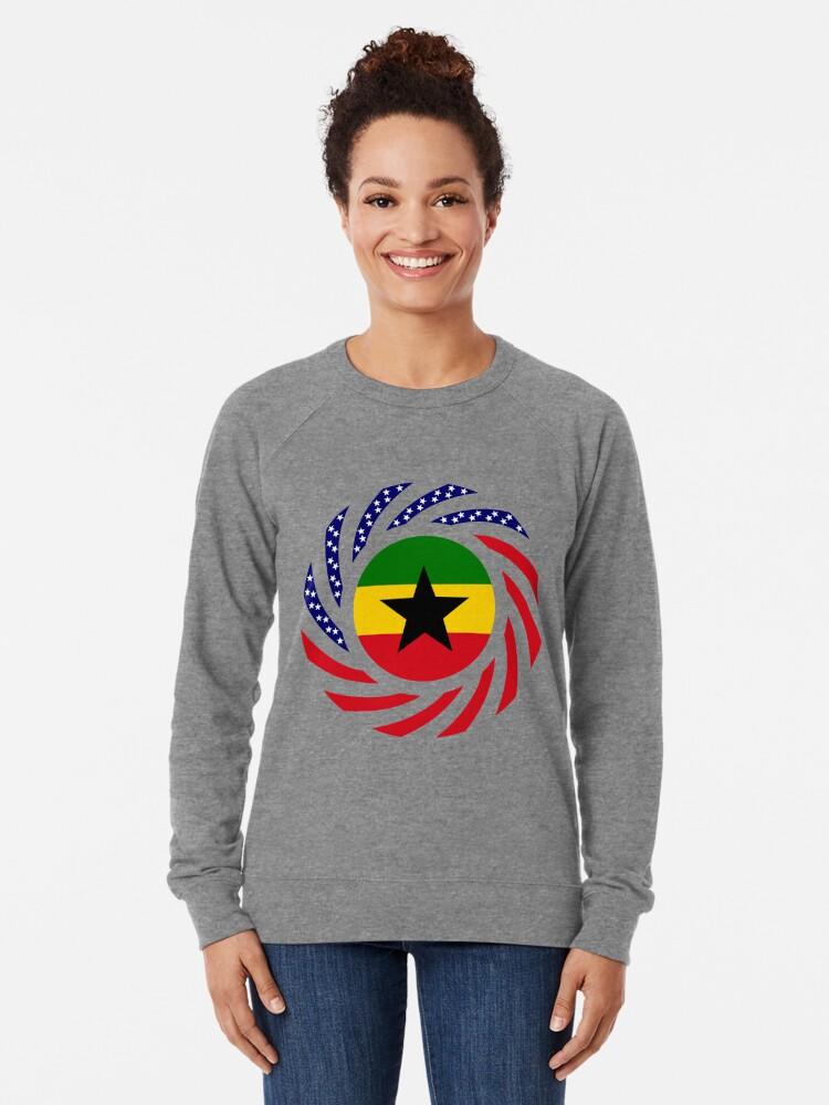 Alternate view of Ghanaian American Multinational Patriot Flag Series Lightweight Sweatshirt
