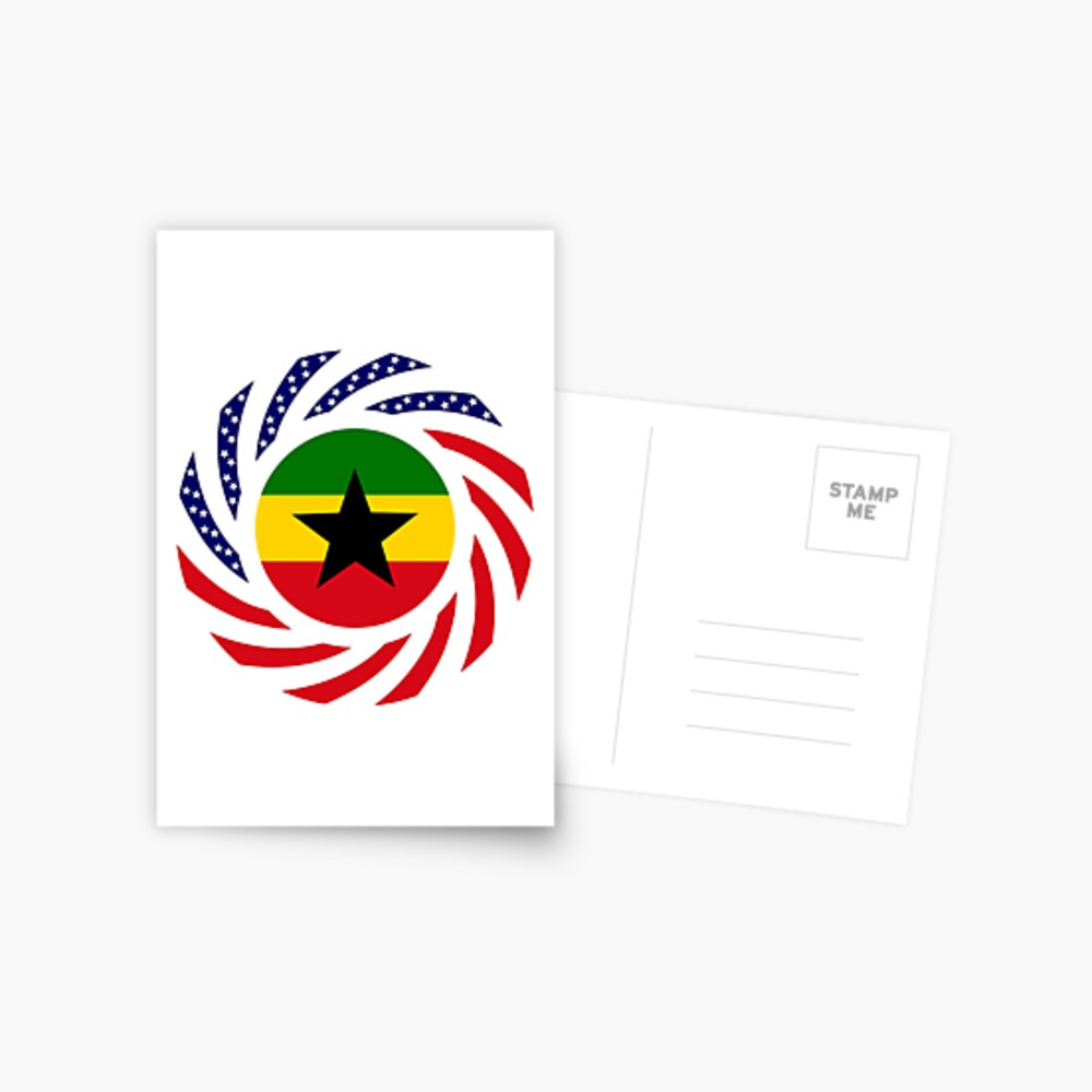 Ghanaian American Multinational Patriot Flag Series Postcard