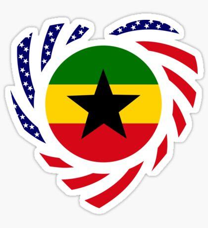 Ghanaian American Multinational Patriot Flag Series 2.0 Sticker