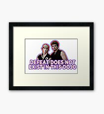Defeat? Not in this Dojo. Framed Print