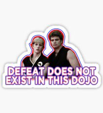 Defeat? Not in this Dojo. Sticker