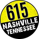 NASHVILLE TENNESSEE AREA CODE 615 TN by MyHandmadeSigns