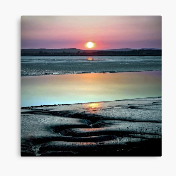 SOLWAY FIRTH - VOLCANIC SUNSET Canvas Print