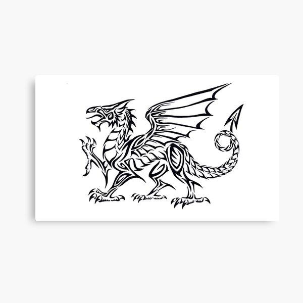 Welsh Flag Dragon Wales Cymru 12x8 Inch Print