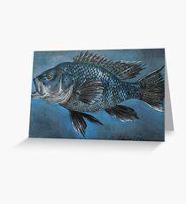 Black Sea Bass Greeting Card