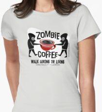 Zombie Coffee Retro T-shirt original design Womens Fitted T-Shirt