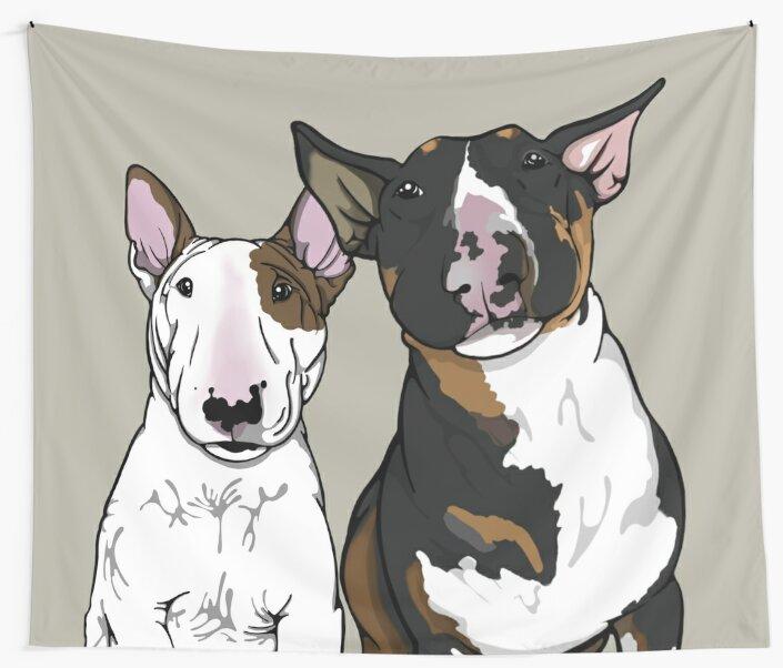 Freddie and Lola English Bull Terrier's  by Sookiesooker