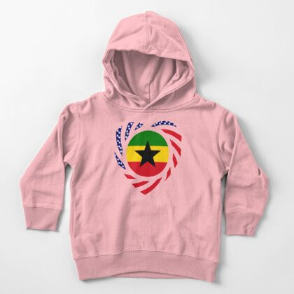 Ghanaian American Multinational Patriot Flag Series Toddler Pullover Hoodie
