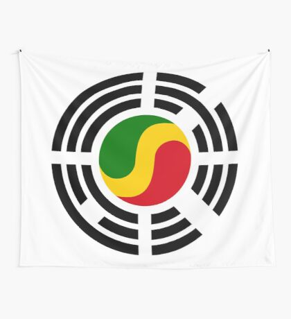 Korean Congolese Multinational Patriot Flag Series Wall Tapestry