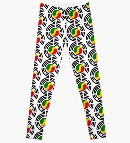 Korean Congolese Multinational Patriot Flag Series Leggings
