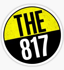 FORT WORTH TEXAS AREA CODE THE 817 ARLINGTON KELLER GRAPEVINE SOUTHLAKE IRVING Sticker
