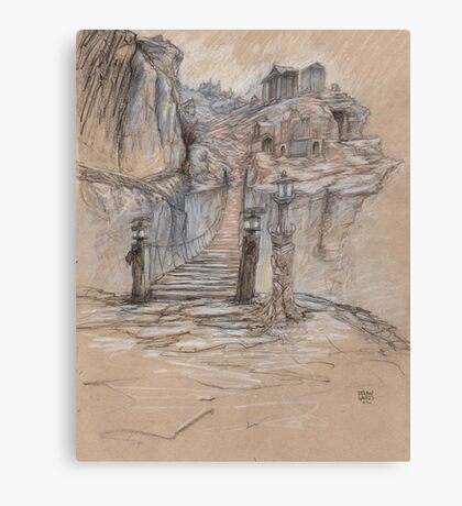 The Broke Bridge Pass Canvas Print