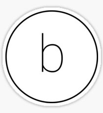 The Material Design Series - Letter B Sticker