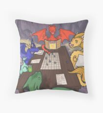 Dragons and Dungeons Throw Pillow