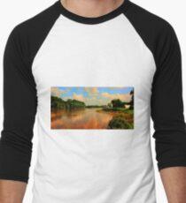 Assiniboine River...HDR Men's Baseball ¾ T-Shirt