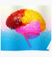 The Human Brain - Crystallized Art Effect Poster