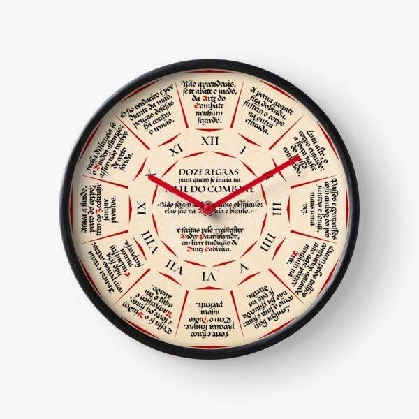 Doze Regras para quem se Inicia na Arte do Combate Clock