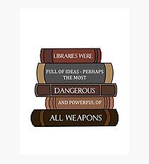 Libraries were full of ideas... Photographic Print