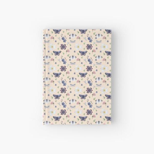 Nordic Garden Pattern_pink background Hardcover Journal