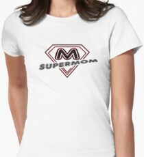 I Love my Super Mom  Womens Fitted T-Shirt