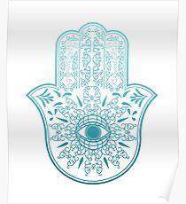 Hamsa. Hand of Fatima. Poster