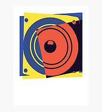 Pop Art Music Speaker Photographic Print