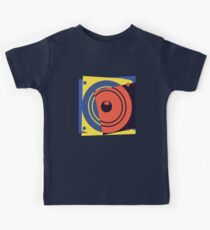 Pop Art Music Speaker Kids Tee