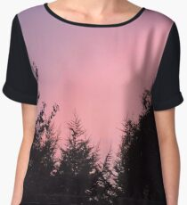 Pink Sky  Women's Chiffon Top