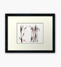 Garden of Dreams - sumie ink brush pen drawing on paper Framed Print