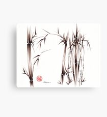 Garden of Dreams - sumie ink brush pen drawing on paper Canvas Print