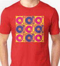 Vinyl Record Turntable Pop Art 3 T-Shirt