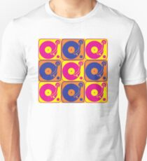 Vinyl Record Turntable Pop Art 3 Unisex T-Shirt