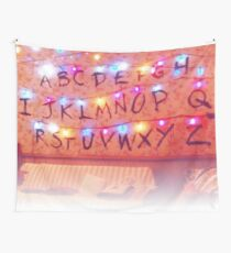 STRANGER THINGS ALPHABET LIGHTS Wall Tapestry