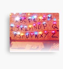 STRANGER THINGS ALPHABET LIGHTS Canvas Print