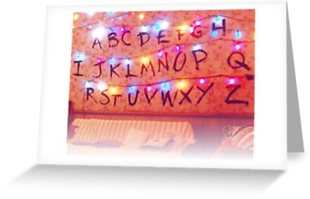 STRANGER THINGS ALPHABET LIGHTS by wildxinfinite