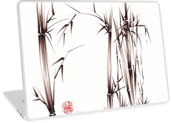 Garden of Dreams - sumie ink brush pen drawing on paper by Rebecca Rees