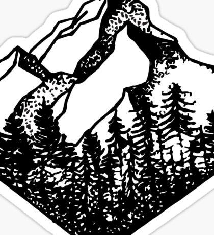 Mountain Diamond Sticker
