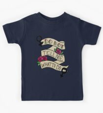 Don't Tell Me What To Do Kids Tee