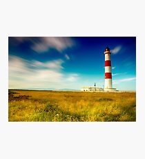 Tarbatness Lighthouse, scotland Photographic Print