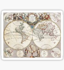 vintage World map Sticker