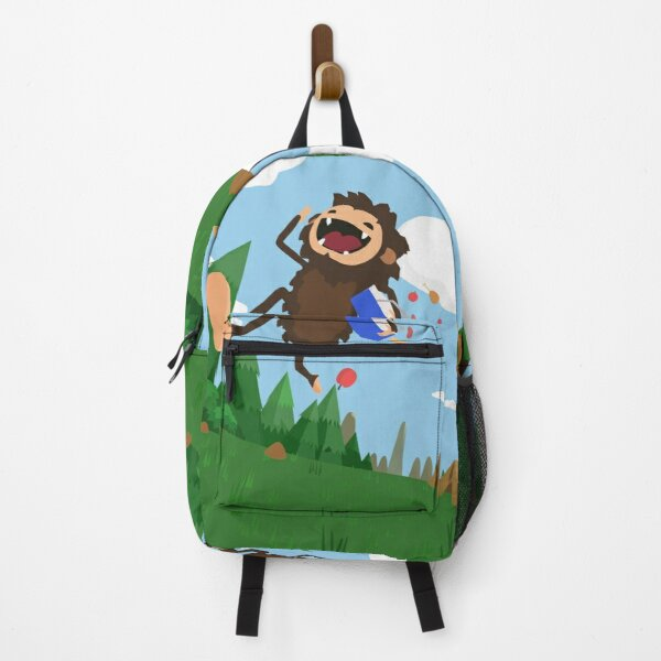 crazy hungry bigfoot Sneaky Sasquatch gift for gamer Backpack