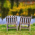 Autumn Season Romantic Lake View For Two by Bo Insogna