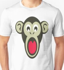 Shocking Monkey Cartoon  T-Shirt