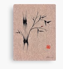 The Ladybug Sleeps - india ink brush pen bamboo drawing Canvas Print