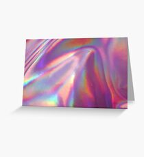Holographic Sea in pink Greeting Card