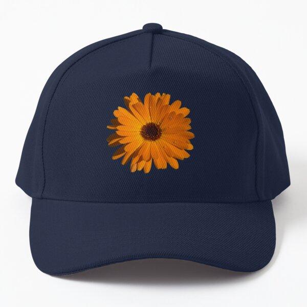 Orange power flower Baseball Cap