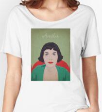 Amelie illustration Camiseta ancha para mujer