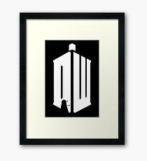 Dalek (white) Framed Print