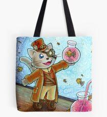 Steampunk Cat Tote Bag