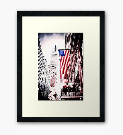 Manhattan Symbols Framed Print